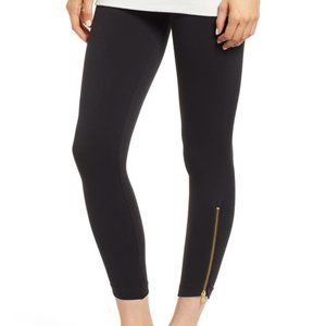 SPANX Zipper Detail Black Leggings